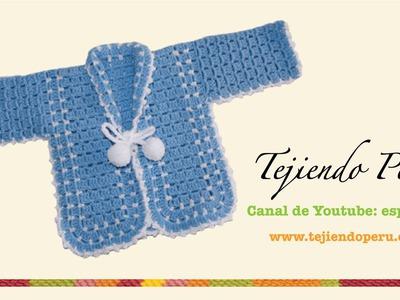 Ropón o chaqueta para bebé en crochet (Parte 2)