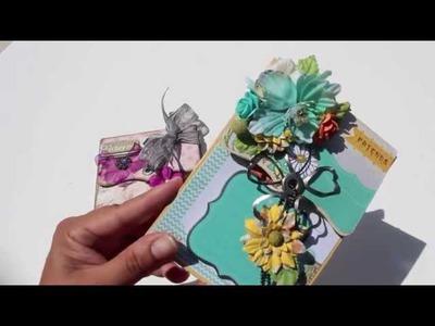 "Scrapbooking Live With Prima ""Pocket BOX Mini Album"" UStream Class"
