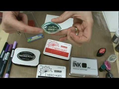Scrapbooking Made Simple uses Chalk, Dye & Pigment inks, Hero Arts, Colorbox & Tim Holtz for Cards