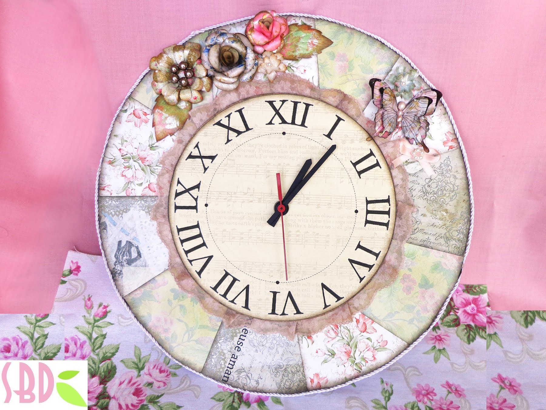 Scrapbooking: Orologio Shabby Chic - Shabby Chic Clock [ENG SUB]
