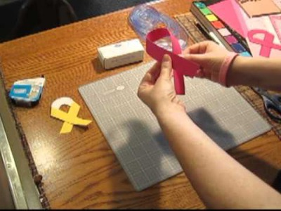 Scrapbooking Tutorial #5: Breast Cancer Awareness and Paper Ribbon Embellishments