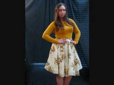 Sewing Tutorial: Retro Chic DIY Circle Skirt!