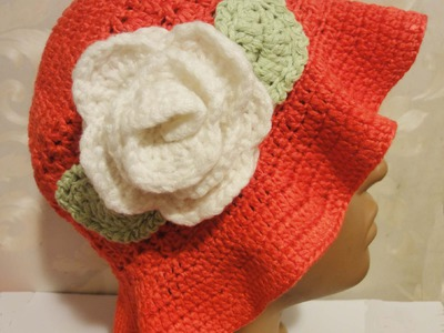 Шапочка Панамка Вязание крючком Panama hat Crochet