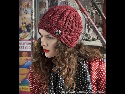 Шапочка-шлем из журнала Vogue Knitting. Часть 1