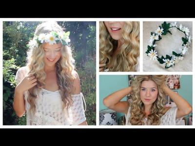 Taylor Swift Curly Hair Tutorial & DIY Flower Crown