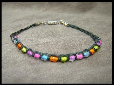 ► The Beaded Hemp Wish Bracelet - Craft Tutorial 2