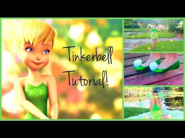 Tinkerbell Tutorial! Hair, Makeup, and DIY Costume!