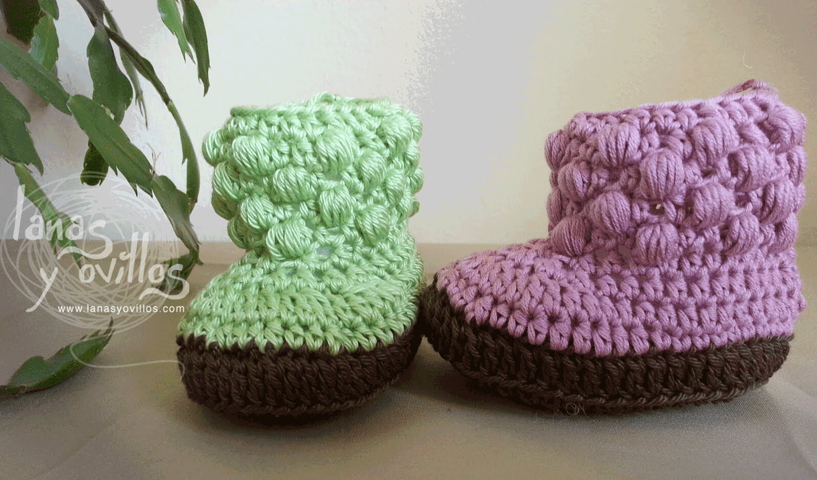 Tutorial Botas Bebe Crochet o Ganchillo Baby booties (english sub)