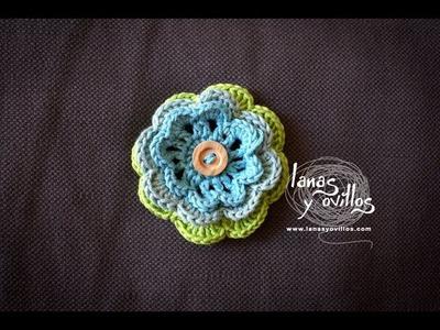 Tutorial Flor Crochet o Ganchillo Paso A Paso en Español