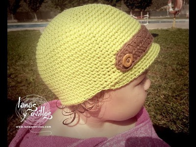 Tutorial Gorro Niño Crochet o Ganchillo Baby Hat (English Subtitles)