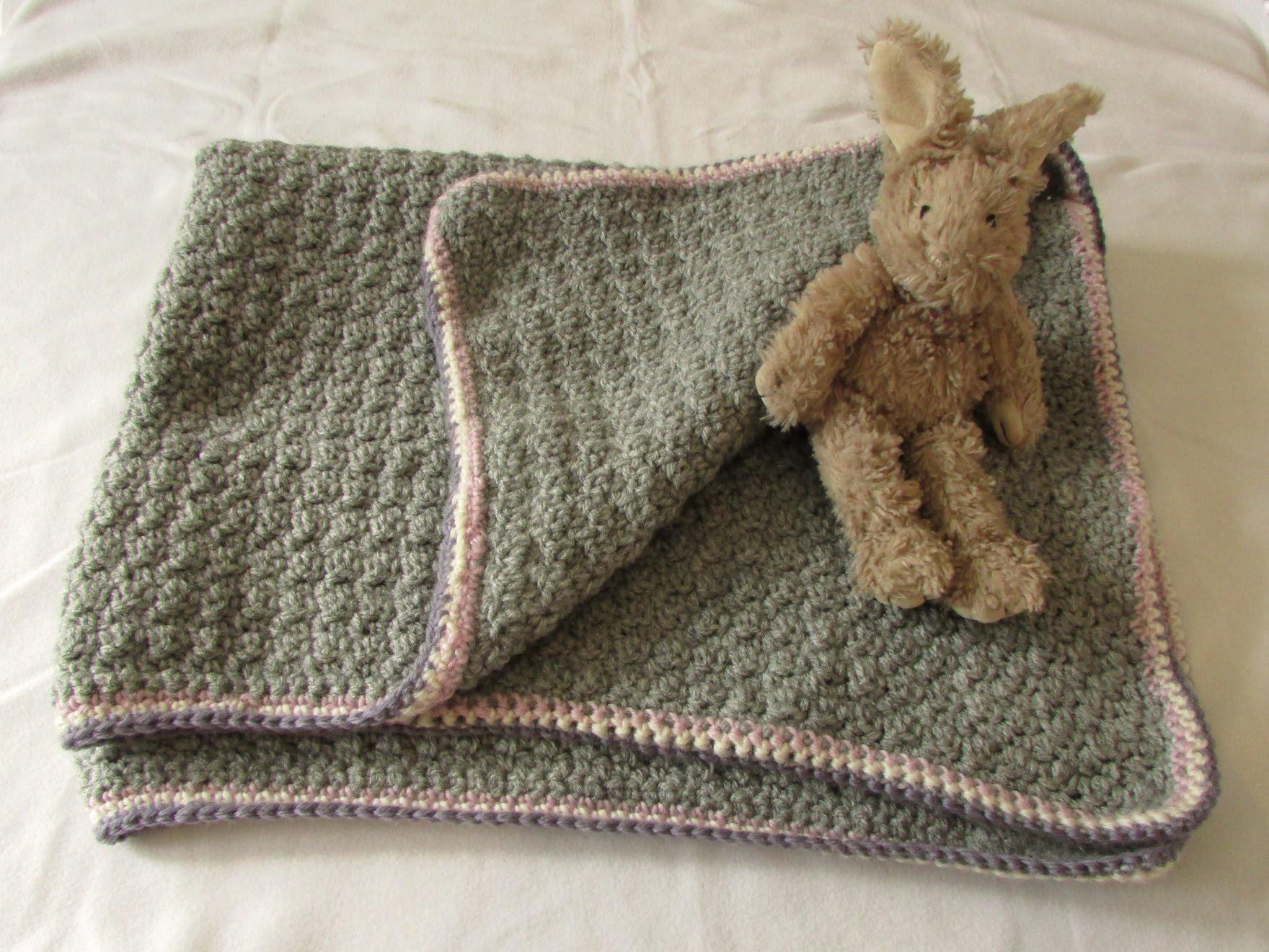 VERY EASY crochet baby blanket for beginners - quick afghan. throw