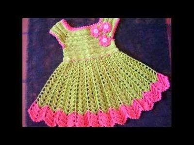 Vestidos de bebes a crochet