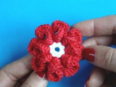 Вязание цветка крючком Урок 9 - How to Crochet flower