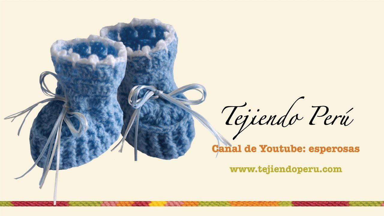 Zapatitos para bebé en crochet (Parte 2)