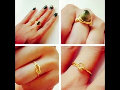 3 styles of DIY dainty gold rings - Natalie's Creations