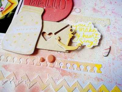 A Scrapbooking Mixed Media Process Video-Hello