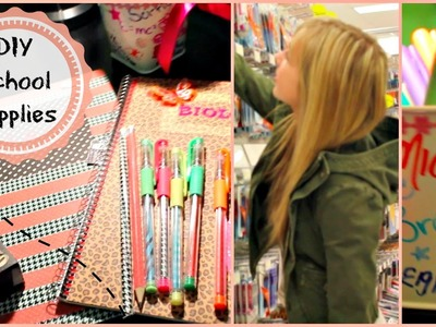 Back To School: DIY School Supplies 2014 ♡ (Organization, Decorations & More)