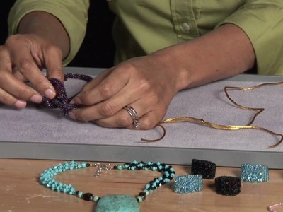 Beading Projects : How to Tie a Square Knot for Beading
