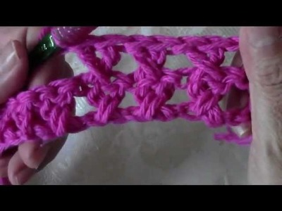 Crochet crossed double crochet dishcloth