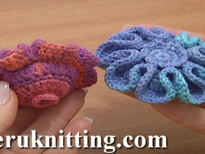 Crochet Stuffed Flower Button Tutorial 5 Part 2 of 2 Crochet Decrease Stitches