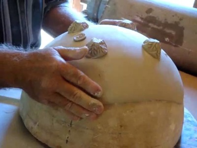Demonstration of making a pottery slab square bowl part 2