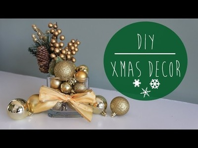 DIY | Christmas Decor. Holiday Centrepiece