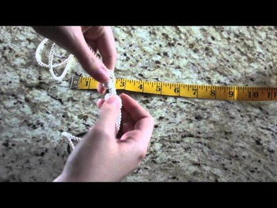 DIY Double Knotted Rope Headband