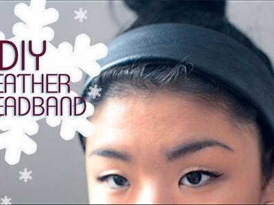✂ DIY Leather Headband
