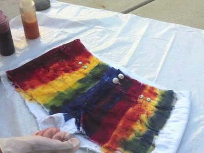 DIY Rainbow Shorts Tutorial! ◕ ◡ ◕