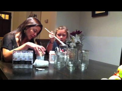 DIY Upcycled Halloween Craft Mummy Jars with Mommy Greenest