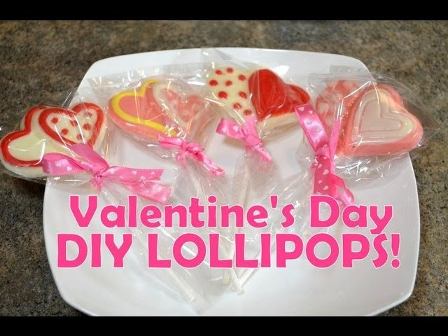 DIY Valentine's LOLLIPOPS & Heart CANDY, Gift Idea for Valentine's Day