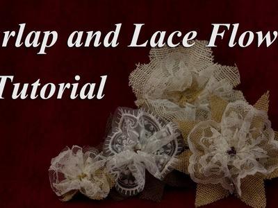 Elegant Burlap and Lace Flower Tutorial