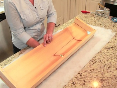 How to Cover a Cornice Board : DIY Home Decor Tips