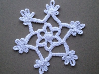 How to Crochet a Snowflake Pattern #5 │by ThePatterfamily