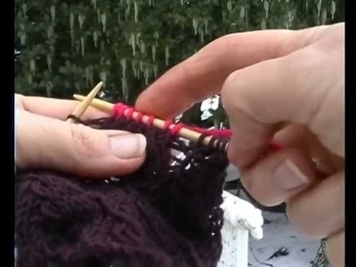HOW TO KNIT THIS DAINTY LACE FINGERLESS GLOVE - Part 1 of 2. Beautiful delicate lace stitch knitting