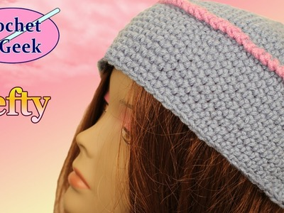 How to make a Crochet Kufi Box Hat Left Hand Crochet Geek