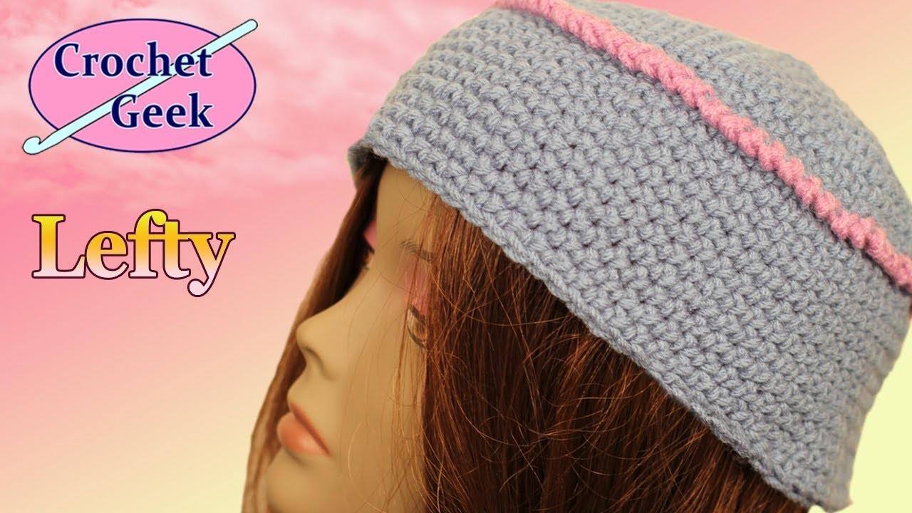 How to make a Crochet Kufi Box Hat Left Hand Crochet Geek