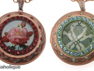 How to Make a Mixed Media Collage Art Locket