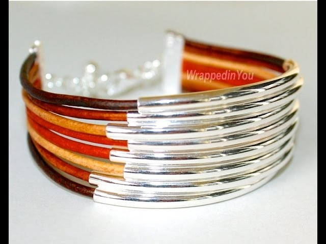 How to Make a Multi Strand Bangle Bracelet - Step by step DIY bangle tutorial