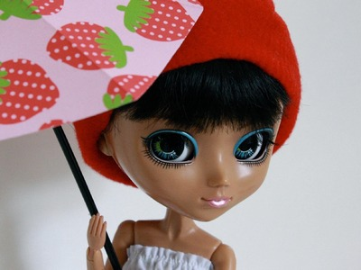 How to Make an Opened Doll Umbrella Out of Paper - Doll Crafts