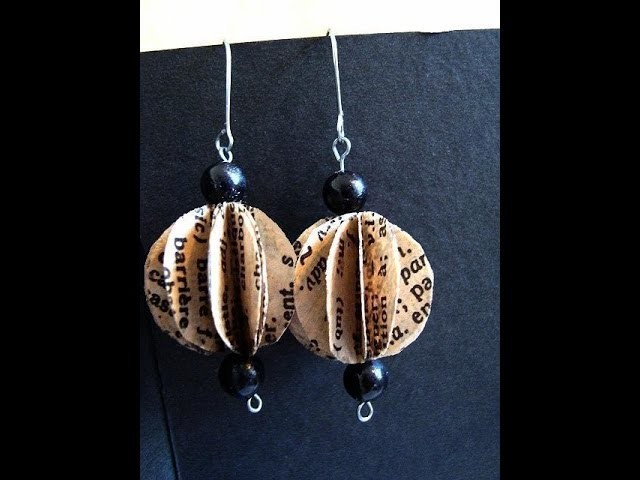 How to make segmented french dictionary earrings, paper beads