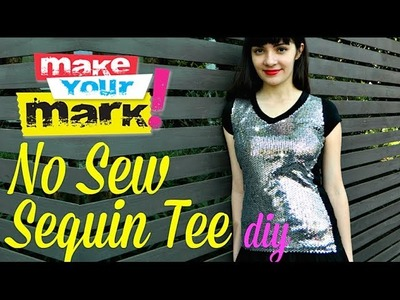How to: No Sew Sequin Tee DIY