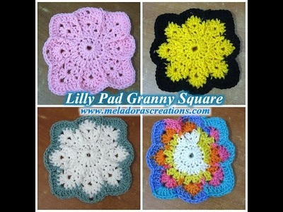 Lilly Pad Granny Square - Left Handed Crochet Tutorial