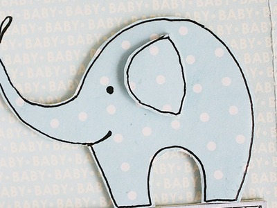 Make a Cute Elephant for Scrapbooking - DIY Crafts - Guidecentral