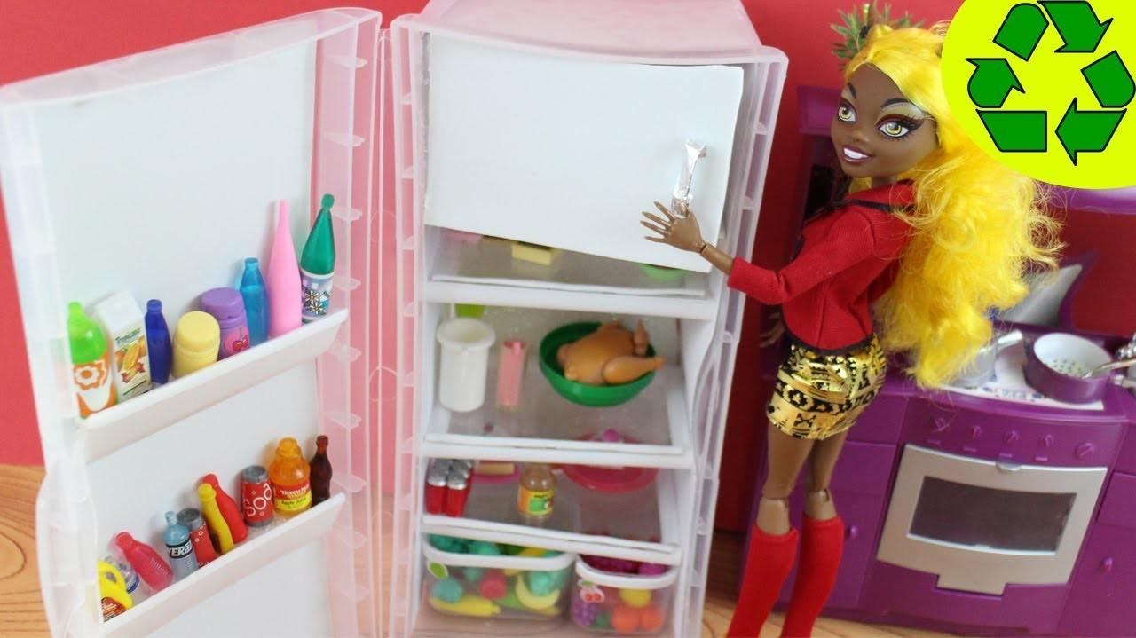 Make a Doll Refrigerator - Doll Crafts