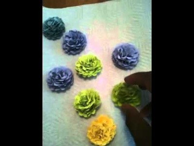 Make a flower ring using a scalloped circle punch!