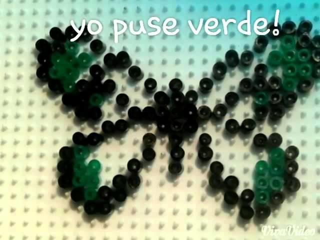 Mariposa con hama beads mini