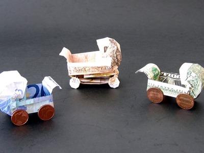 Money Origami Instructions: Money Baby Buggy (Dominik Meißner)