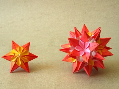 Origami Instructions: Sparaxis Star and Kusudama (Ekaterina Lukasheva)