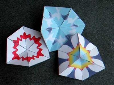 Papercraft - flexagon - flexagon: my own designs -dutchpapergirl